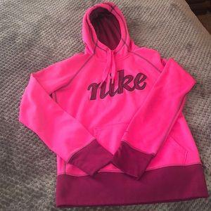 2 tone pink NIKE hoodie